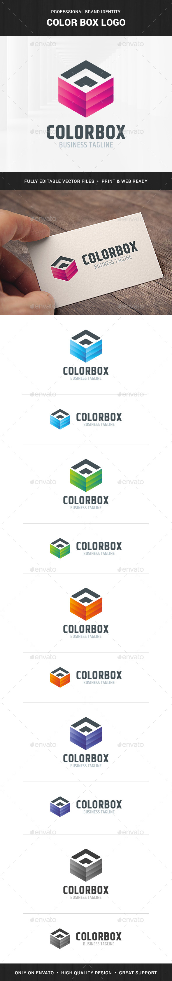 Color Box Logo Template
