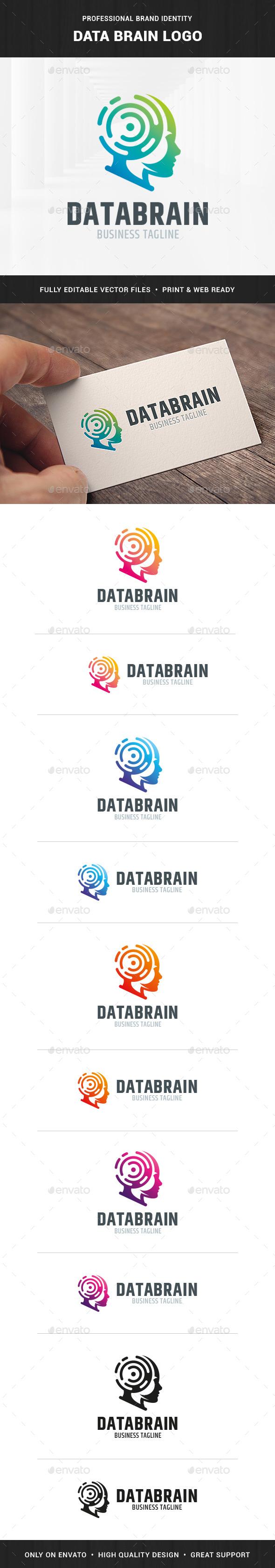 Data Brain Logo Template