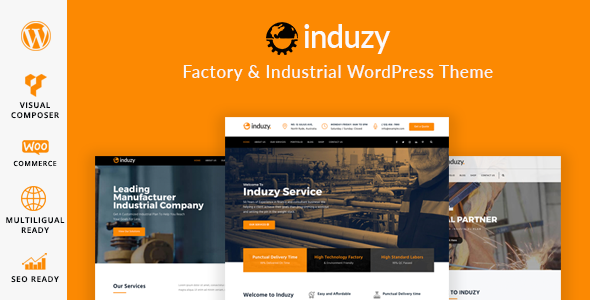 Induzy - Factory & Industrial WordPress Theme