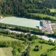 Aerial View of Hydropower Plant and Hydroelectric Station in Swiss Alps - VideoHive Item for Sale