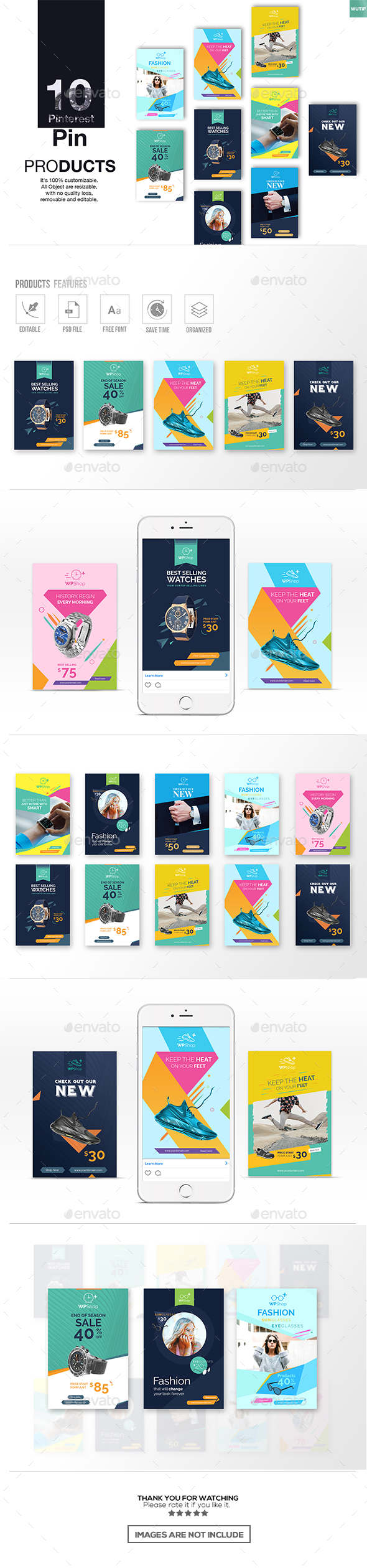 10 Pinterest PSD Graphics, Designs & Templates from GraphicRiver