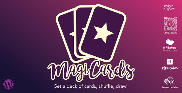MagiCards - decks of cards to shuffle | WP plugin