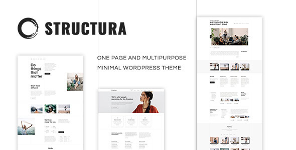 Structura - Minimal One Page | The Minimal Theme