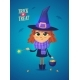 Halloween Witch Girl in a Witch Costume - GraphicRiver Item for Sale