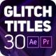 30 Glitch Titles - VideoHive Item for Sale