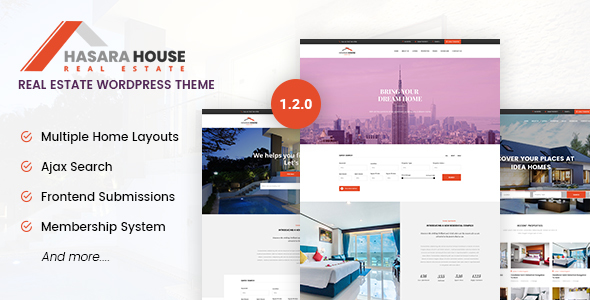 Hasara House - Real Estate Responsive WordPress Theme