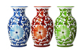 Chinese Porcelain Floral Vases - PhotoDune Item for Sale