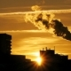 Refinery Plant Silhouette with Chimney Smoke Against Sunset - VideoHive Item for Sale