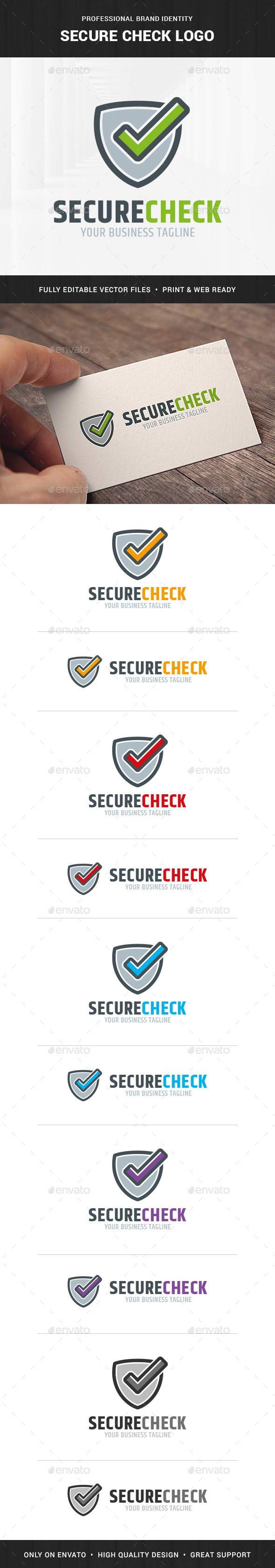 Secure Check Logo Template