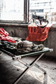 Firing position of machine gunner in old building - PhotoDune Item for Sale