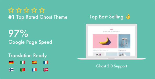 Ghost Blogs and Ghost Themes from ThemeForest