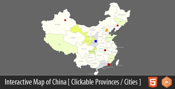 Interactive Map of China - HTML5 Download