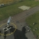 Private Helicopter Landing on the Helicopter Pad at the Airport - VideoHive Item for Sale