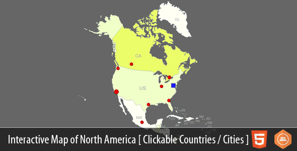 Interactive Map of North America