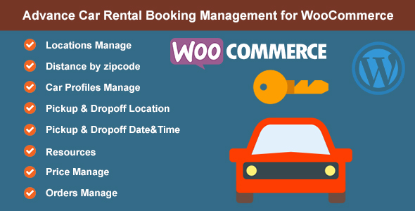 Advance Car Rental Booking Management for WooCommerce
