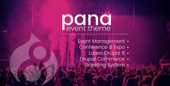 Pana Events Listing and Conference Drupal 8.7 Theme