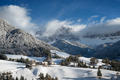 Village and church in the Dolomites in winter - PhotoDune Item for Sale