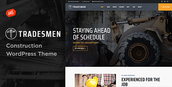 Tradesmen - Construction WordPress Theme