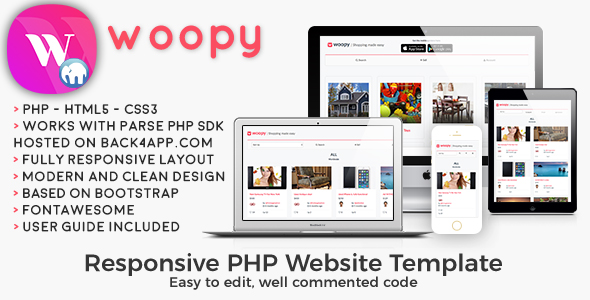 woopy | PHP Listings + Chat Web Template