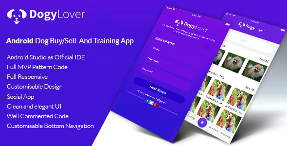 DogyLover - Android Dog Buy/Sell And Training App