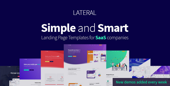 Lateral – Creative SaaS Landing Page Template