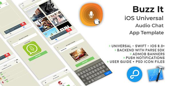 Buzz It | iOS Universal Public Audio Chat App (Swift)