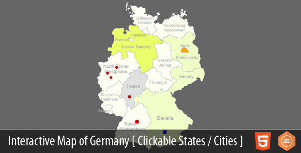 Interactive Map of Germany - HTML5