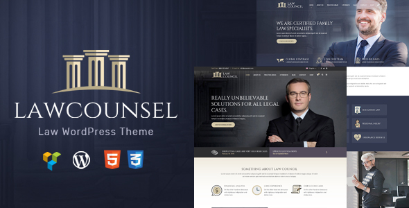 LawCounsel - Lawyers WordPress Theme