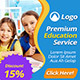 Education Banner Ads Template - GraphicRiver Item for Sale