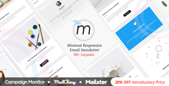 Miley | Minimal Responsive Email Template with Online Builder