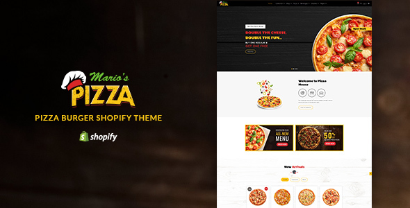 Marios Pizza | Burger, Restaurant Shopify Theme
