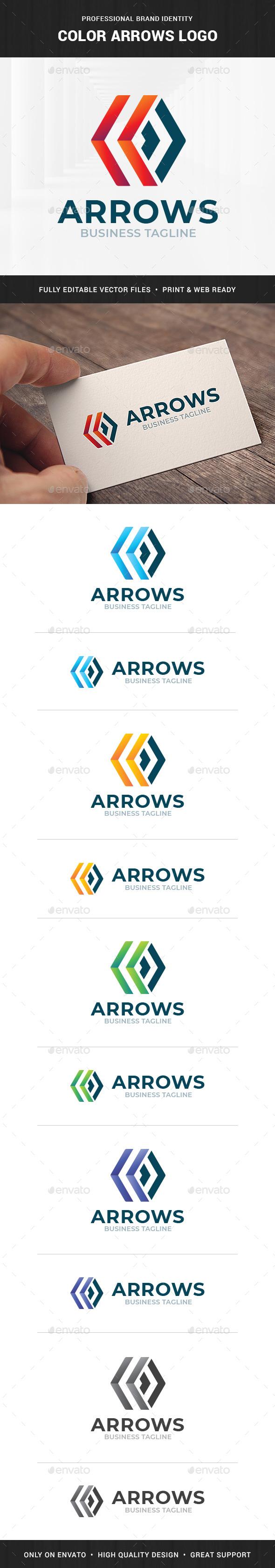 Color Arrows Logo Template