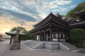 buddhist wooden building at sunset - PhotoDune Item for Sale