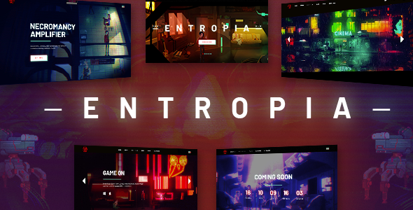 Entropia - Gaming and eSports Theme