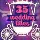 35 Wedding Titles (Photo & Names) - VideoHive Item for Sale