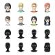 Young Avatar Faces - GraphicRiver Item for Sale