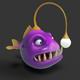 Angler Cartoon Fish - 3DOcean Item for Sale