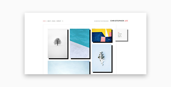 Christopher - Portfolio & Photography WordPress Theme