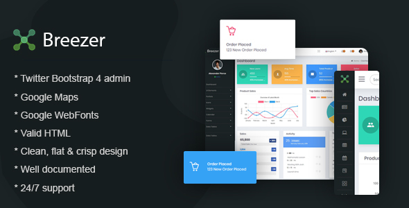 Download Breezer – Responsive Bootstrap 4 Admin Dashboard Nulled