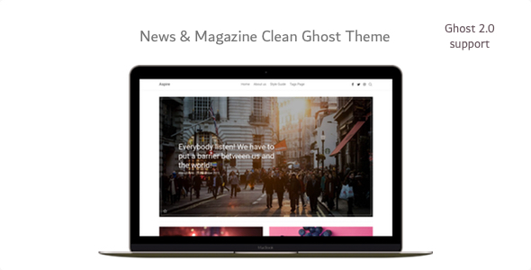 Aspire - News & Magazine Clean Ghost CMS Theme