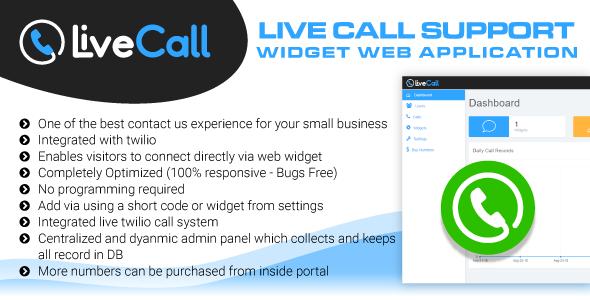 Live Call Support Widget Software