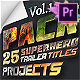 25 SuperHero Titles Pack For Premiere Pro   Mogrt - VideoHive Item for Sale