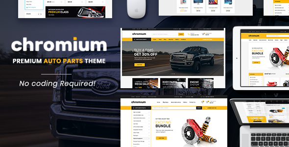 Chromium - The Auto Parts, Equipments and Accessories Opencart Theme with Mobile Layouts