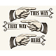 Retro Pointing Fingers Set - GraphicRiver Item for Sale