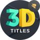 TypeX - 3D Corporate Pack: Title Animation Presets Library - VideoHive Item for Sale