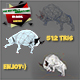 3D bull low poly rigging n animated run - 3DOcean Item for Sale