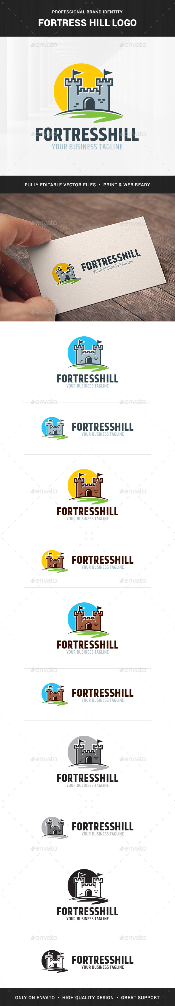 Fortress Hill Logo Template