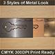 Metal Look Key Cutout Card, 3 Styles - GraphicRiver Item for Sale