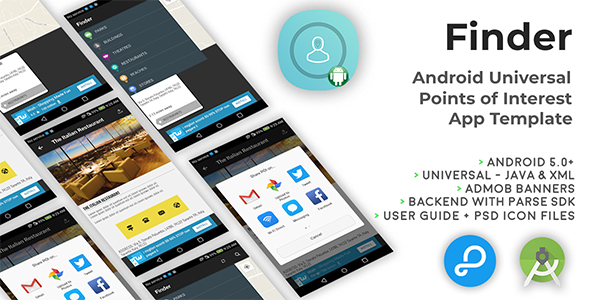 Finder   Android Universal Points of Interest App Template