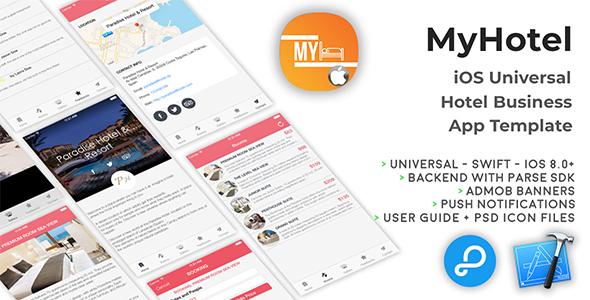 MyHotel | iOS Universal Hotel App Templates (Swift)